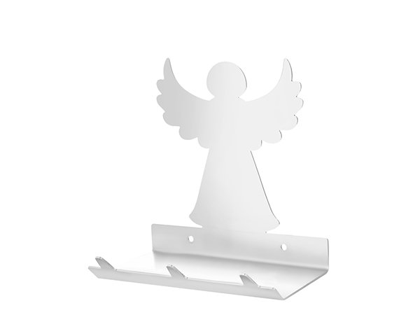 Christmas Angel Keys Rack with Sunglasses Tray - 3 Hooks - Stainless Steel - Buy Steel Products Online