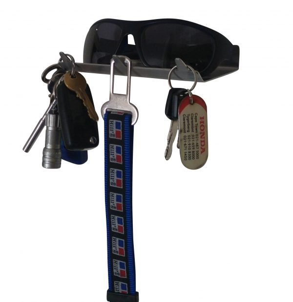 Keys Rack with Sunglasses Tray - 3 Hooks - Stainless Steel - Buy Steel Products Online