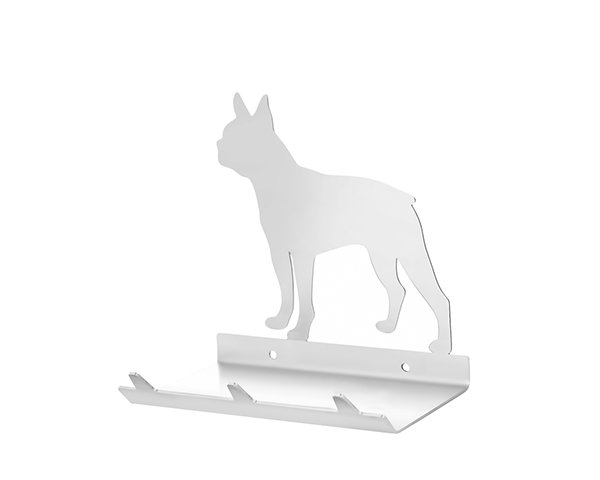 Boston Terrier Keys Rack with Sunglasses Tray - 3 Hooks - Stainless Steel - Buy Steel Products Online
