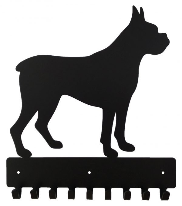 Boxer Key Rack & Dog Leash Hanger - 9 Hooks - Black - Buy Steel Products Online