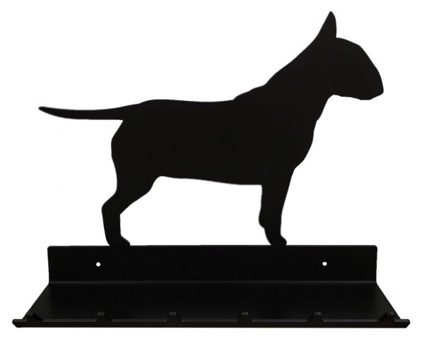 Bull Terrier Key Rack with Sunglasses Tray - 6 Hooks - Black - Buy Steel Products Online