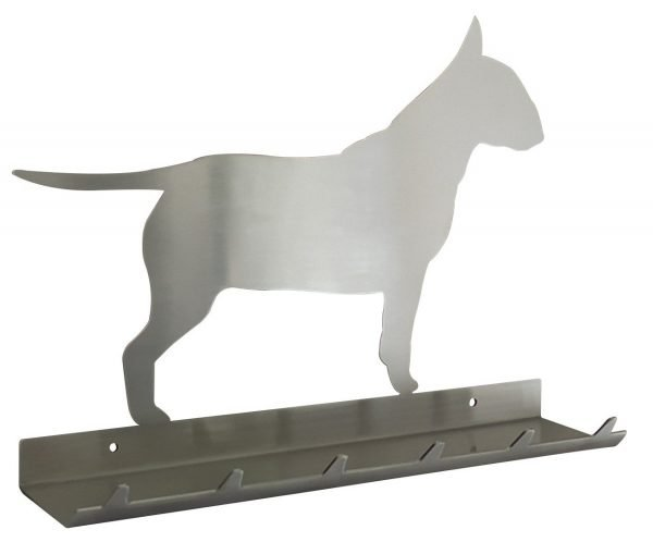 Bull Terrier Keys Rack with Sunglasses Tray - 6 Hooks - Stainless Steel - Buy Steel Products Online
