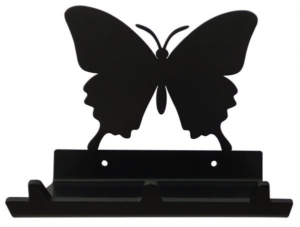 Butterfly Keys Rack with Sunglasses Tray - 3 Hooks - Black - Buy Steel Products Online