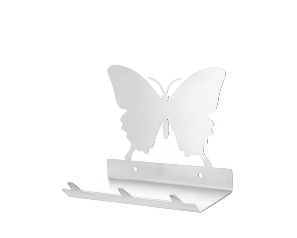 Butterfly Keys Rack with Sunglasses Tray - 3 Hooks - Stainless Steel - Buy Steel Products Online