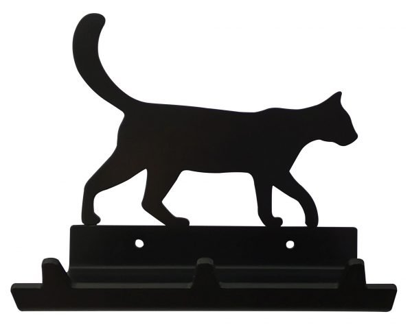Cat Walking Keys Rack with Sunglasses Tray - 3 Hooks - Black - Buy Steel Products Online
