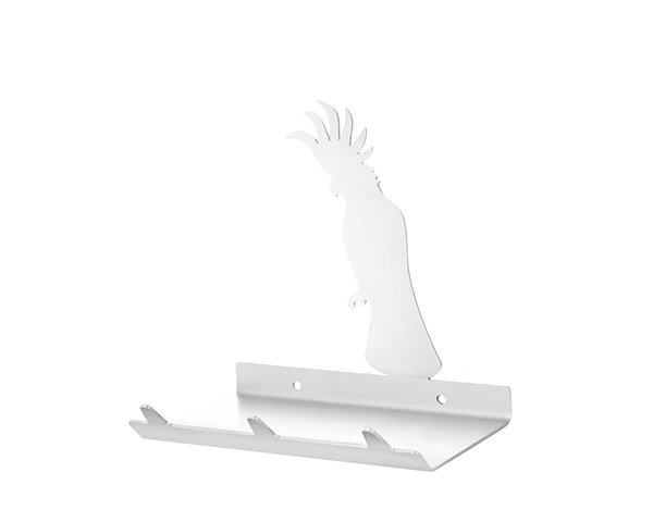 Cockatoo Keys Rack with Sunglasses Tray - 3 Hooks - Stainless Steel - Buy Steel Products Online