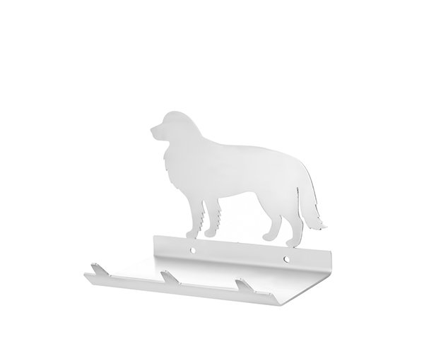 Border Collie Keys Rack with Sunglasses Tray - 3 Hooks - Stainless Steel - Buy Steel Products Online