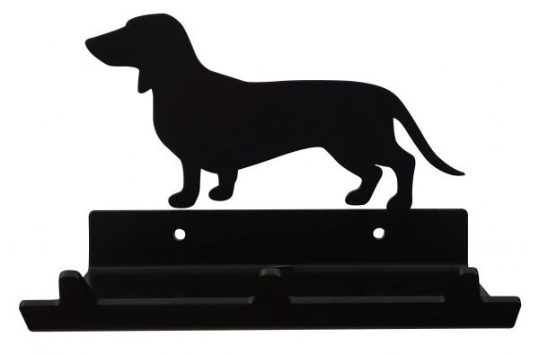 Dachshund Keys Rack with Sunglasses Tray - 3 Hooks - Black - Buy Steel Products Online