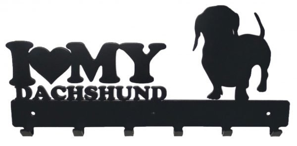 I Love My Dachshund Coat  Bag & Cap Rack - Buy Steel Products Online