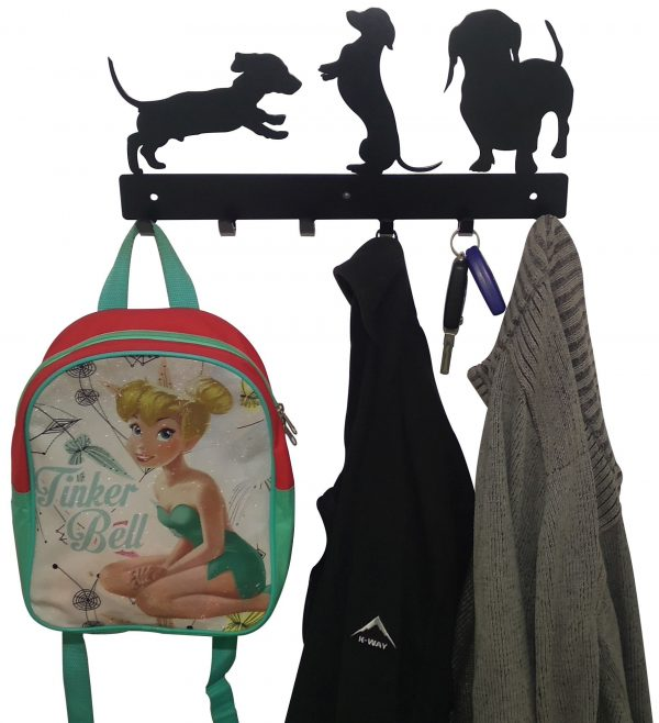 Dachshund Coat  Bag & Cap Rack - Buy Steel Products Online