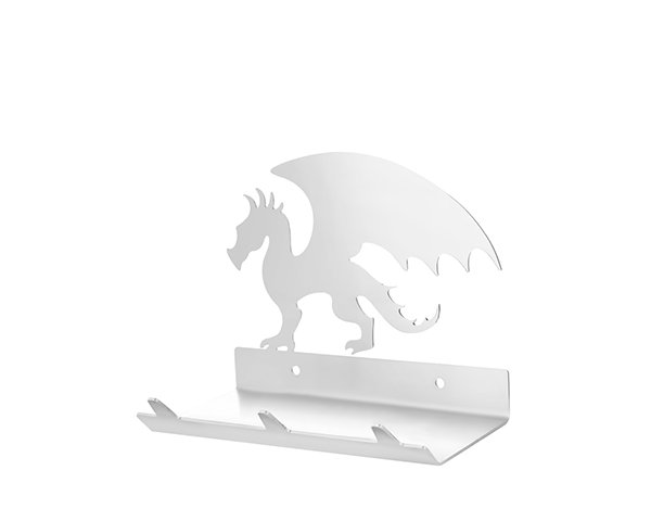 Dragon Keys Rack with Sunglasses Tray - 3 Hooks - Stainless Steel - Buy Steel Products Online