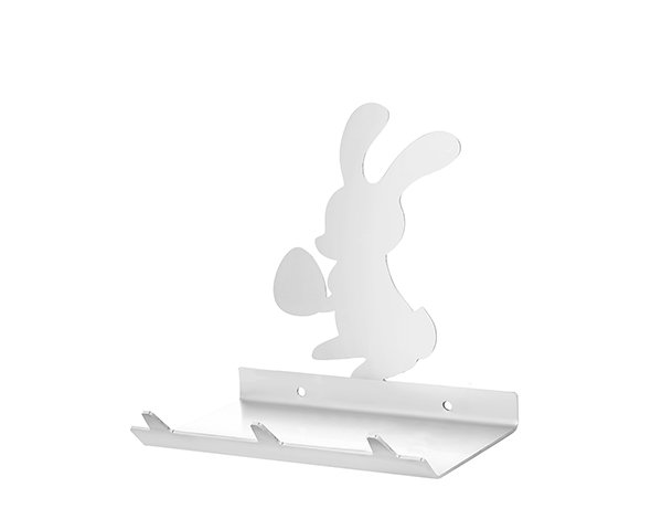 Easter Bunny Keys Rack with Sunglasses Tray - 3 Hooks - Stainless Steel - Buy Steel Products Online