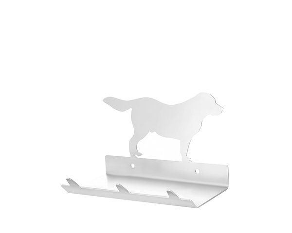 Golden Retriever Keys Rack with Sunglasses Tray - 3 Hooks - Stainless Steel - Buy Steel Products Online