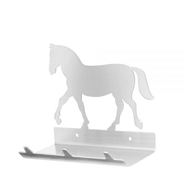 Horse Keys Rack with Sunglasses Tray - 3 Hooks - Stainless Steel - Buy Steel Products Online