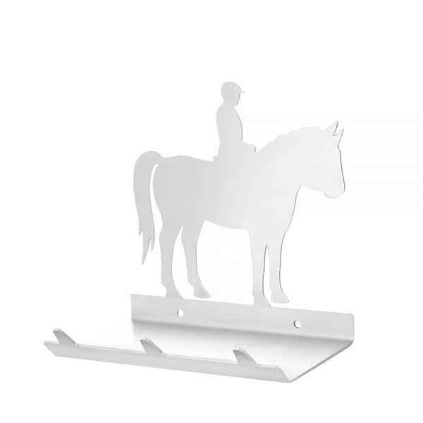 Horse & Rider Keys Rack with Sunglasses Tray - 3 Hooks - Stainless Steel - Buy Steel Products Online