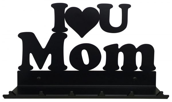 I Love You Mom Key Rack with Sunglasses Tray - 6 Hooks - Black - Buy Steel Products Online