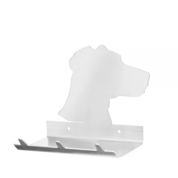 Jack Russel Keys Rack with Sunglasses Tray - 3 Hooks - Stainless Steel - Buy Steel Products Online