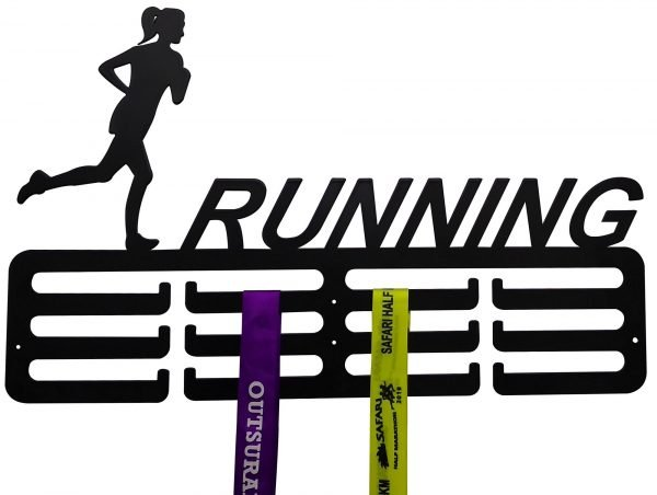 Medal Holder for Female Runners - Black - Buy Steel Products Online