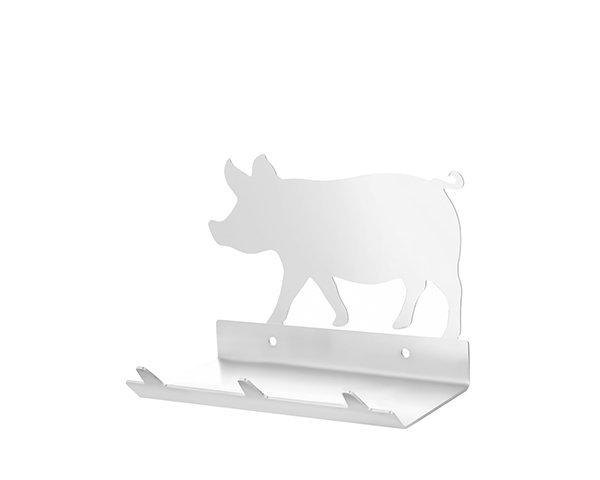 Pig Keys Rack with Sunglasses Tray - 3 Hooks - Stainless Steel - Buy Steel Products Online