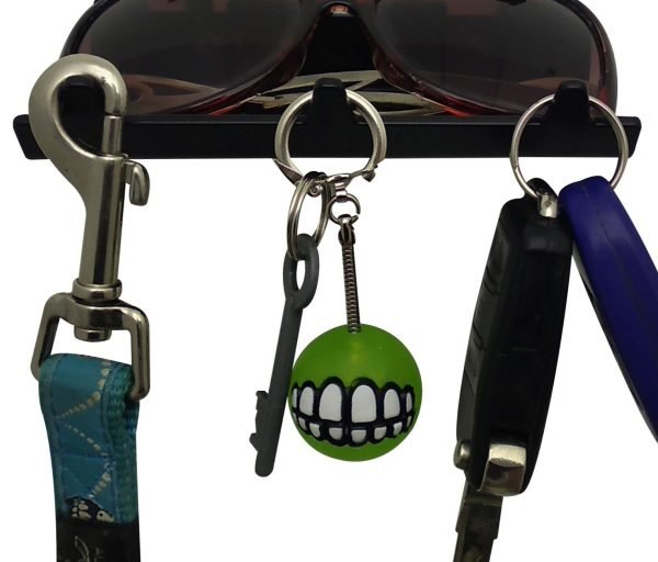 Pitbull Keys Rack with Sunglasses Tray - 3 Hooks - Black - Buy Steel Products Online