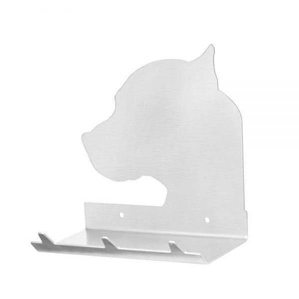 Pitbull Head Keys Rack with Sunglasses Tray - 3 Hooks - Stainless Steel - Buy Steel Products Online