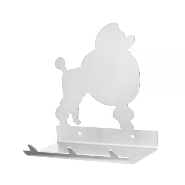 Poodle Keys Rack with Sunglasses Tray - 3 Hooks - Stainless Steel - Buy Steel Products Online
