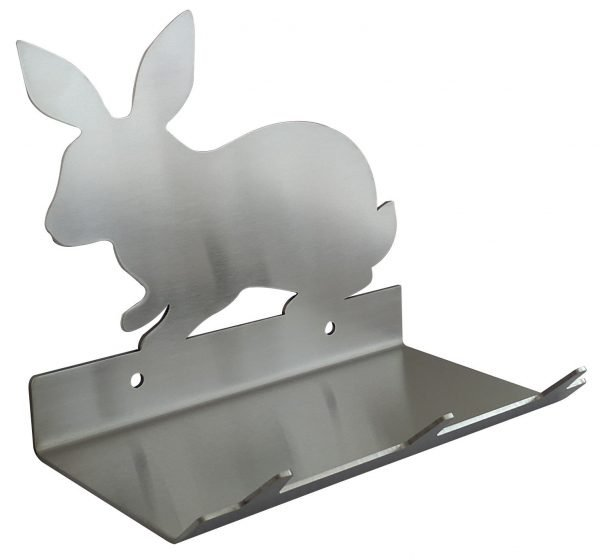 Rabbit Keys Rack with Sunglasses Tray - 3 Hooks - Stainless Steel - Buy Steel Products Online