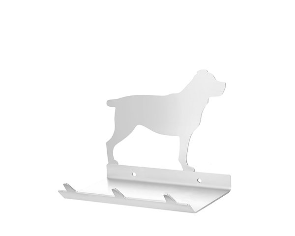 Rottweiler Keys Rack with Sunglasses Tray - 3 Hooks - Stainless Steel - Buy Steel Products Online