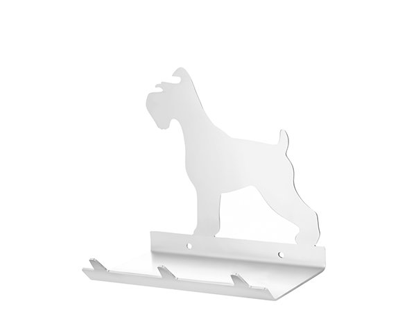 Schnauzer Keys Rack with Sunglasses Tray - 3 Hooks - Stainless Steel - Buy Steel Products Online