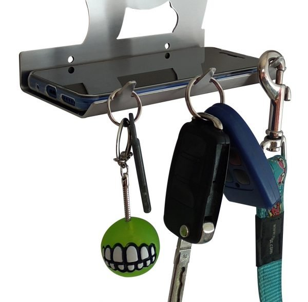 Scottish Terrier Keys Rack with Sunglasses Tray - 3 Hooks - Stainless Steel - Buy Steel Products Online