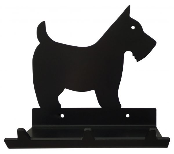 Scottish Terrier Keys Rack with Sunglasses Tray - 3 Hooks - Black - Buy Steel Products Online