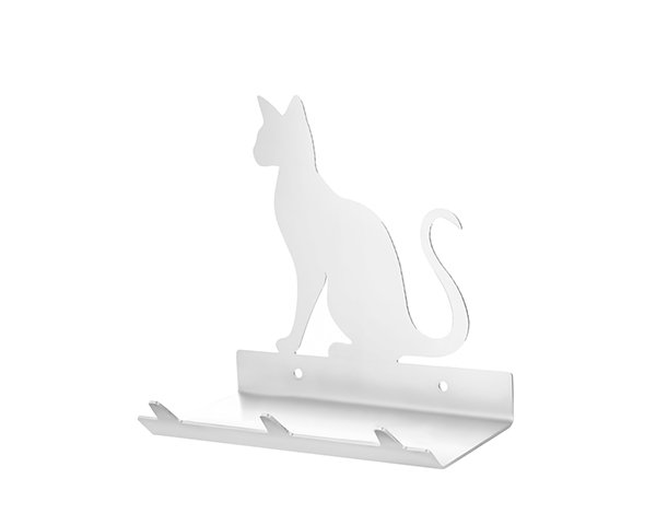 Siamese Cat Keys Rack with Sunglasses Tray - 3 Hooks - Stainless Steel - Buy Steel Products Online