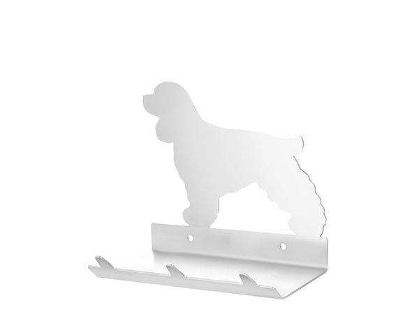 Cocker Spaniel Keys Rack with Sunglasses Tray - 3 Hooks - Stainless Steel - Buy Steel Products Online