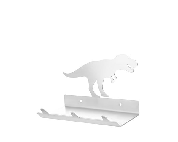 T-Rex Dinosaur Keys Rack with Sunglasses Tray - 3 Hooks - Stainless Steel - Buy Steel Products Online