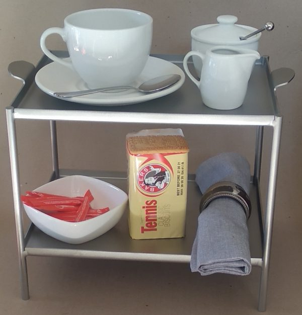 Executives Desk Coffee & Tea Server Tray - Stainless Steel - Buy Steel Products Online